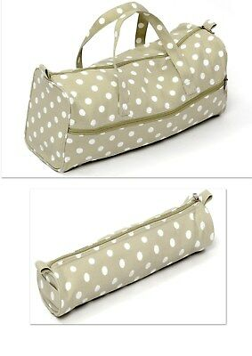 Knitting Bag Sewing Bags  Sage Spot. Soft Handled Bag & Cylindrical Case