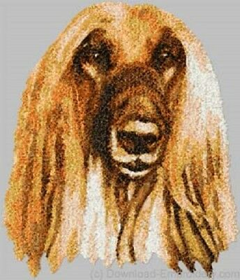 Embroidered Long-Sleeved T-Shirt - Afghan Hound DLE3658 Sizes S - XXL