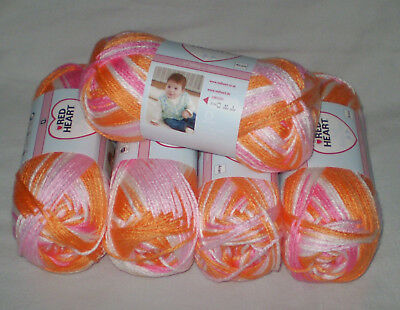 500 gr  RED Heart Soft Baby Steps  weiches Babygarn Farbe 9931 - sorbet color
