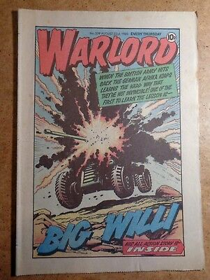 Warlord Comic No.309 23rd August 1980 D.C. Thomson War Action British