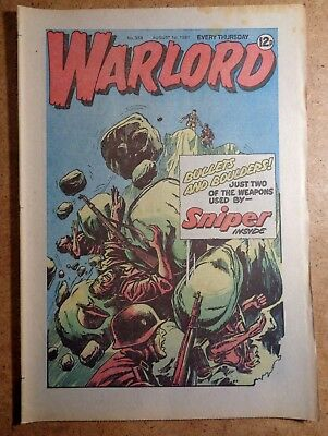 Warlord Comic No.358 1st August 1981 D.C. Thomson War Action British
