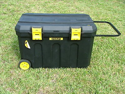 Stanley Portable Contractor Tool Work Storage Chest Trunk Box #37001 50 gallon