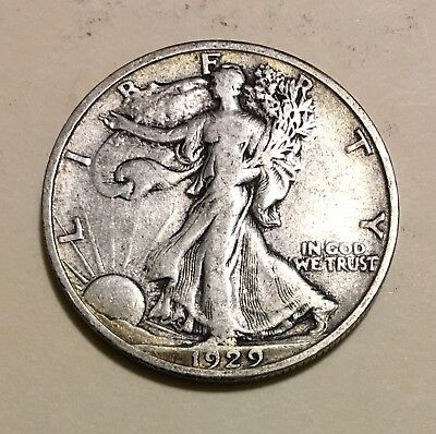 1929-S Walking Liberty Half Dollar, Tough Date, Much Better Grade