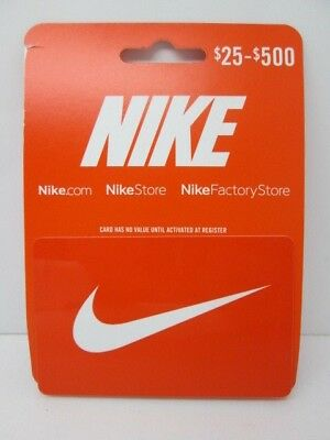 Nike Gift Card Guaranteed Good For $75.00