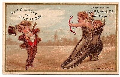 Edwin C. Burt Fine Shoes by James White Cohoes, New York Trade Card