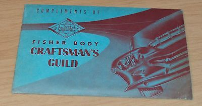 """1959-60 Car DESIGNING Booklet/DRAWING Guide~""""FISHER BODY CRAFTSMAN'S GUILD""""~"""