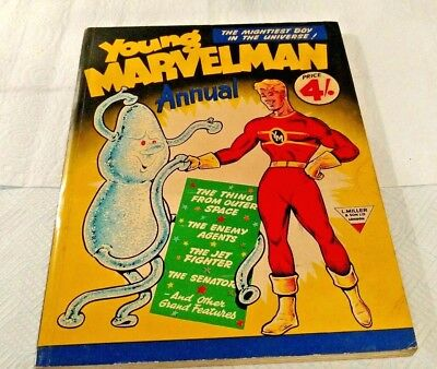 Young MARVELMAN 1954 Comic Annual First One(#1)Superb Copy. Very Clean.Nice One