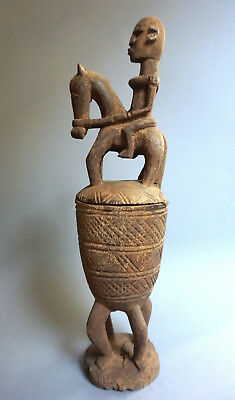 Dogon Box with Equestrian Figure · Deckelgefäß · Pot et couvercle · DOGON · MALI
