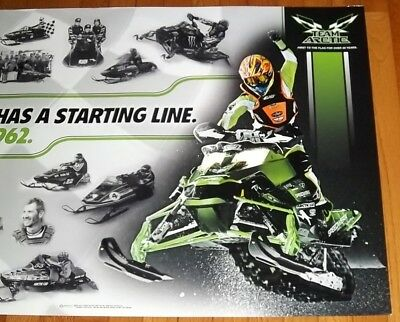 "NEW 37"" x 25"" ARCTIC CAT 50TH ANNIVERSARY EVERY RACE HAS A STARTING LINE POSTER!"