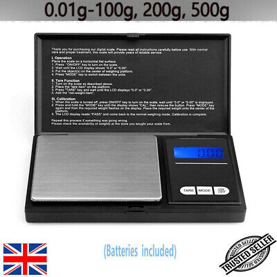 0.01G to 100G 500G Electronic Pocket Mini Digital Gold Jewellery Weighing Scales