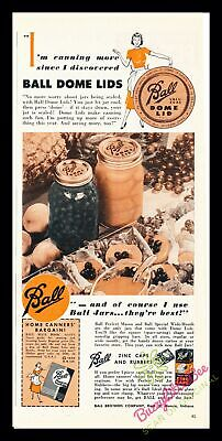 Print Ad~1950~Ball Dome Lid~Jars~Color~Mason~I600