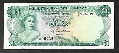 Bahamas - One Dollar Note - L1974 - P35a - VF
