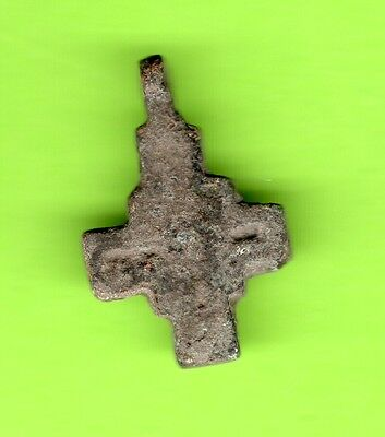 Russia Kiev type Bronze Cross Pendant Viking time 10-12th ca 1100 AD RARE 417