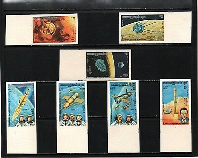 Kampuchea - Cambodia - 1984 - Space - Imperforated Set - Mint Not Hinged - Rare