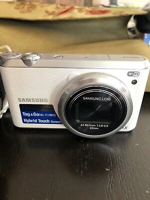 Samsung White WB35OF Digital Camera With Accessories
