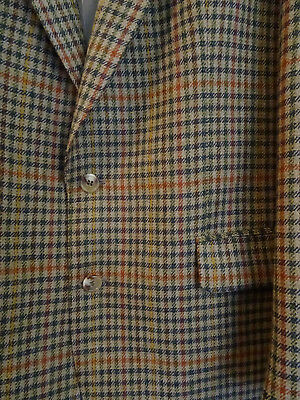 Magee Vintage Pure Wool Checked Blazer Country Gents Sports Jacket Green 42