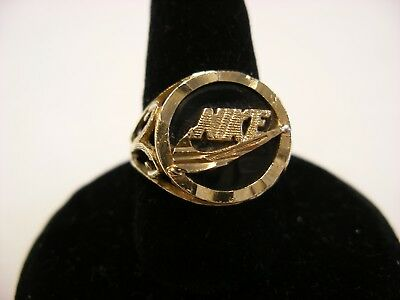 VINTAGE 10K GOLD Nike Ring Size 7 Total Weight including ...