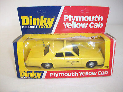 Dinky Toys 278 Plymouth Yellow Cab mint in Box; aus 1978, Modell mint