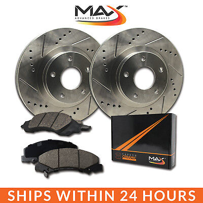 2007 Audi A3 w/312mm Front Rotor Dia Slotted Drilled Rotor w/Ceramic Pads F