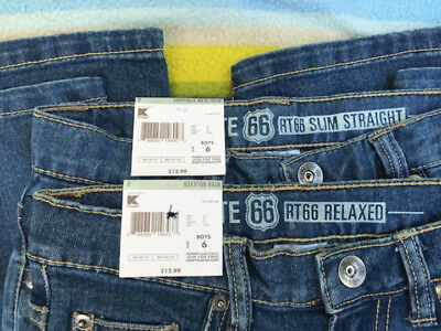 New With Tags  Two Pair of Boys Denim Route 66 Jeans Size 6 FREE SHIPPING