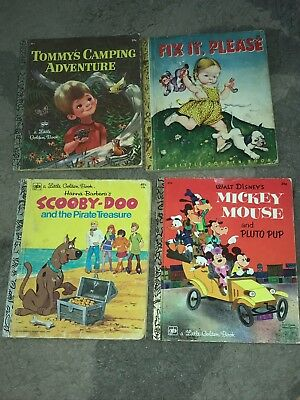 GREAT Lot of 10 Little Golden Books Vintage Old Fix It Tom & Jerry Scooby-Doo