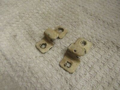 "Antique Victorian Door Window Bolt Lock Striker End Plate 2"" x 7/8"" 1/4"" Shaft"
