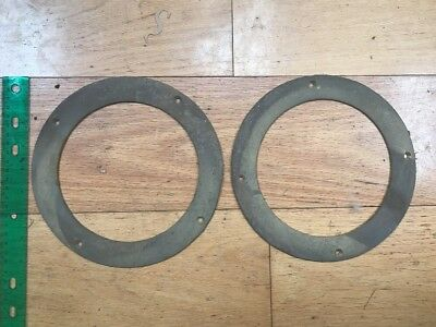 2 Antique brass Wilcox And Crittenden porthole or light trims