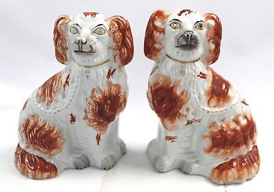 Pair Of Large Vintage WALLY DOGS - Decorative Mantel Ornaments - R14