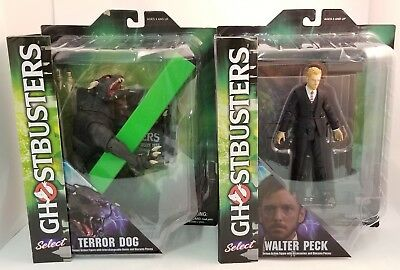 Lot of 2 Diamond Select Ghostbusters Figures ~Walter Peck~Terror Dog~ NEW