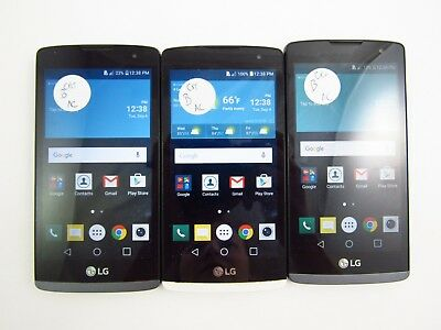 Lot of 3 LG Risio H343 Cricket Check IMEI Good Condition 3-271