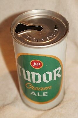 A&P Tudor Cream Ale Zip Top Beer Can SS Clean Tudor Brewery Chicago Illinois T/O