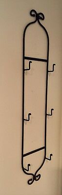 Longaberger Wrought Iron 3 Tier Wall Mount Plate Rack