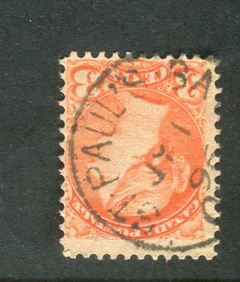 Rare 1896 St Paul's Bay (c1905) Quebec CDS Cancel on 3c Small Queen