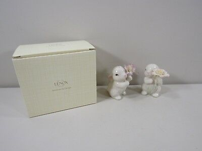 Never Used Pair of Lenox Bunny Rabbit Salt and Pepper Shakers in Box
