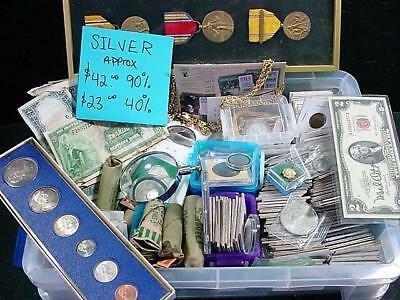 NobleSpirit NO RESERVE Colossal Intact Tackle Box Estate 90-40% Silver As Found!