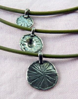 Sterling Silver Silpada 925 Stamped Signed 3 Cord Sand Dollars Coins Necklace