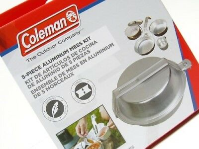 Coleman 5 Piece Aluminum Mess Kit For Camping Hiking Cooking 2000016402