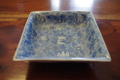 Antique Chinese Asian Porcelain SQUARE BOWL DISH MARKED / SIGNED
