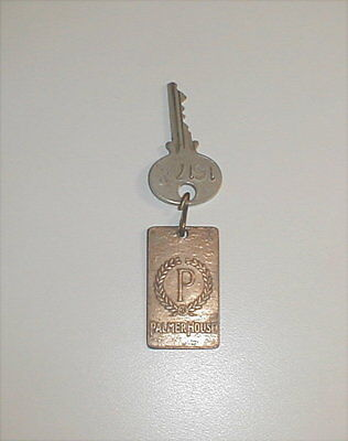 Vintage Palmer House Chicago Hotel Key Fob And Sargent Key #1617W
