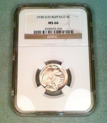 1938-D/D  Buffalo Nickel NGC MS66