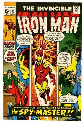 Iron Man #33 (1971) Fine New Marvel Silver Bronze Collection