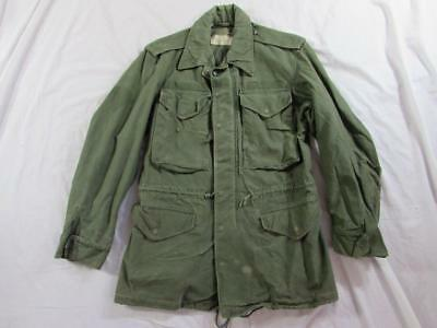 Vtg 60s 1963 US Army Sateen Field Jacket Coat Cold Weather XS-Regular Mod M-65