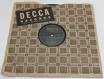 """Bing Crosby 10"""" Record 78 RPM Too Marvelous for Words DECCA Black Label"""