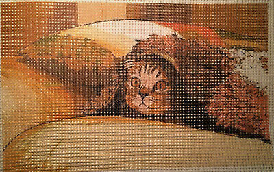"Needlepoint canvas ""Cat-sofa"" # C12"