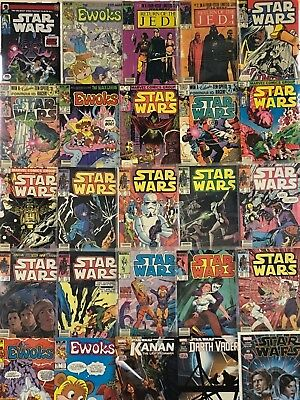 Vintage Star Wars Mid-High Grade Comics Huge Lot 25 Comic Book Set Run Box 1
