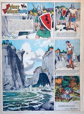 Prince Valiant by Hal Foster - large splash - full page Sunday comic May 4, 1947