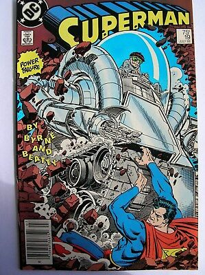 See 12 Pictures ~~ Near Mint Plus July 1988 Superman #19 Comic Book 30 Years Old