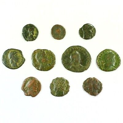 Ten (10) Nicer Ancient Roman Coins c. 100 - 375 A.D. Exact Lot Shown rm3224