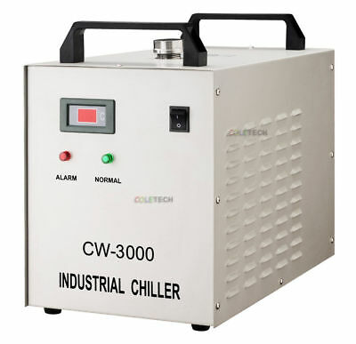 New CW3000 chiller CNC / CO2 laser cutting machine square
