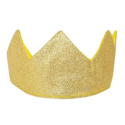 Gold Glitter Sparkle Crown ~ KING QUEEN PRINCE PRINCESS COSTUME BIRTHDAY PARTY